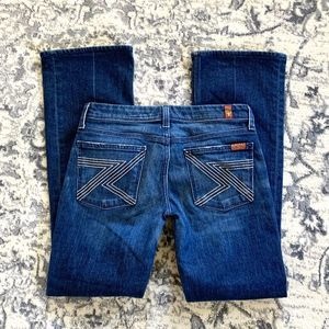 7 For All Mankind Bootcut Dark Washed Flynt Jeans